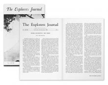 """""""Terra Incognita: Der Verstand"""" war L.RonHubbards erste veröffentlichte Beschreibung des menschlichen Verstandes; Winter/Frühjahr-Ausgabe des Explorers Club Journals von 1950."""