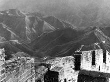 Die Chinesische Mauer neben dem Nan-k'ou-Pass, 1928; Foto von L.Ron Hubbard.