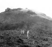 Eine Annäherung an den Vulkan von Martinique, Mount Pelée.
